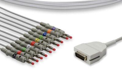 Burdick Compatible Direct-Connect EKG Cable