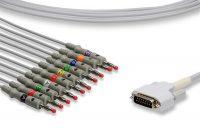 Edan Compatible Direct-Connect EKG Cable