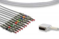 Kenz Compatible Direct-Connect EKG Cable