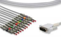 Schiller Compatible Direct-Connect EKG Cable
