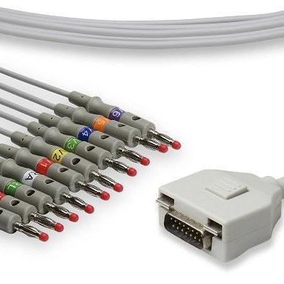 Fukuda ME Compatible Direct-Connect EKG Cable